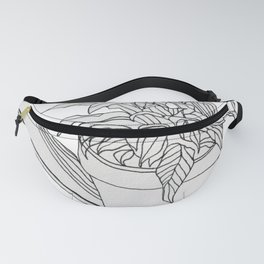 Drawing Peace Lily Fanny Pack