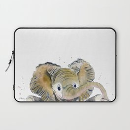 Hello,Anybody At Home? - Baby Elephant Laptop Sleeve