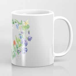 Spring Wild Flower Heart Coffee Mug