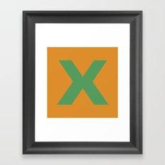 X is for... Framed Art Print