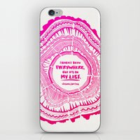 literary iPhone & iPod Skins featuring My List – Pink Ombré Ink by Cat Coquillette