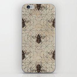 Bumble Bee  on sacred geometry pattern iPhone Skin
