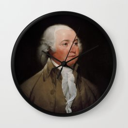 President John Adams Wall Clock