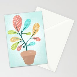 Potted Plant Stationery Cards