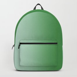 Pastel Green to Green Vertical Bilinear Gradient Backpack