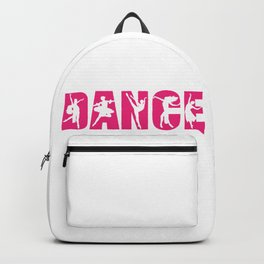 Dance in Pink with Dancer Cutouts Backpack