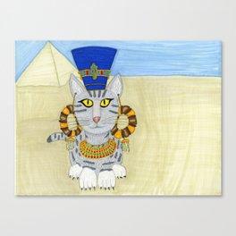 Queen Neferkitty Canvas Print
