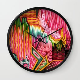 Sunk into a Candy Cave Wall Clock