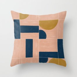 Painted Wall Tiles 03 #society6 #pattern Throw Pillow