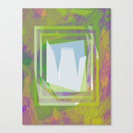 Tropical Geometrcic Canvas Print