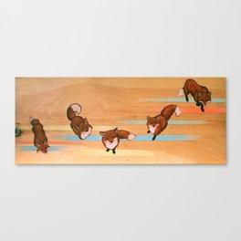 five fox fuge Canvas Print