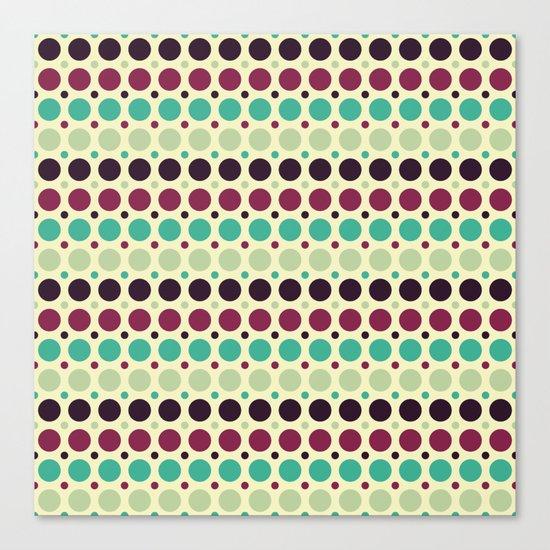 Peacock Polka Dot Pattern Canvas Print