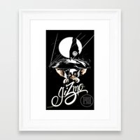 gizmo Framed Art Prints featuring Gizmo by Pedro du Buf
