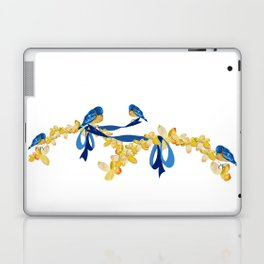 Bluebirds and Blossoms Laptop & iPad Skin