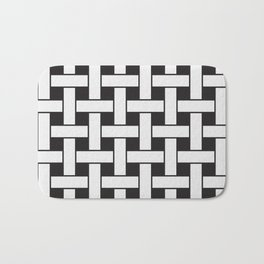 Plane Weave Seamless Pattern. Bath Mat