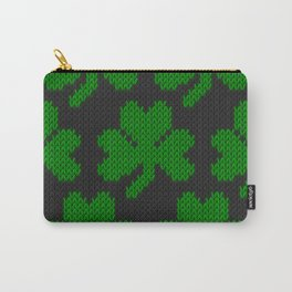 Shamrock pattern - black, green Carry-All Pouch