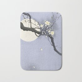Full Moon and blossom Bath Mat