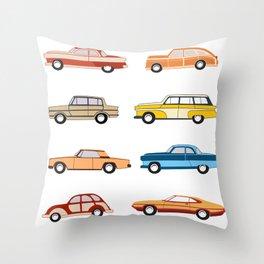 Retro old car Throw Pillow