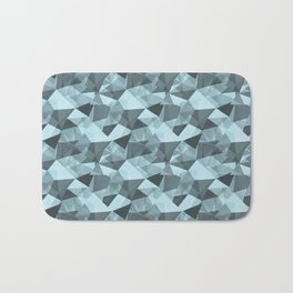 Abstract Geometrical Triangle Patterns 4 VA Healing Aire Blue - Angelic Blue - Soothing Blue Bath Mat