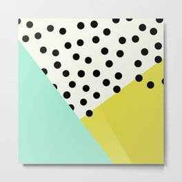 Mod dots and angles  Metal Print