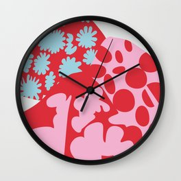 Fashion Designer Icons: Rei Kawakubo in colors Wall Clock