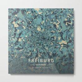 Freiburg, Germany - Cream Blue Metal Print