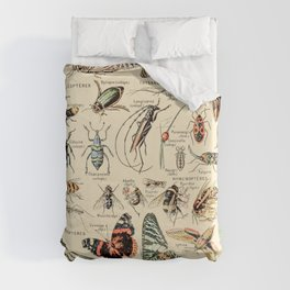 Vintage Insect Identification Chart // Arthropodes by Adolphe Millot XL 19th Century Science Artwork Duvet Cover