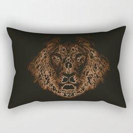 Lion in the dark Rectangular Pillow