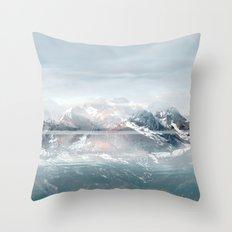 Sunken Snow Throw Pillow