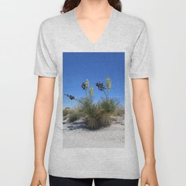 White Sands Dune With Soap Yucca Unisex V-Neck
