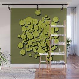 3D Futuristic Cubes V Wall Mural