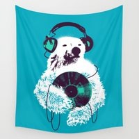 banksy Wall Tapestries featuring Record Bear by Picomodi