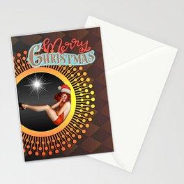Merry Christmas retro Stationery Cards