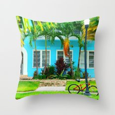 #side street still life miami Throw Pillow
