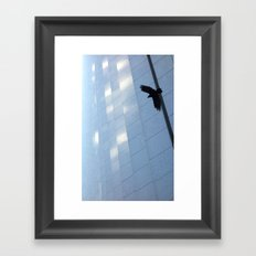 Covid Shadow Flying Across Aon Center Framed Art Print
