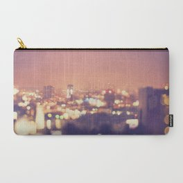 Everyone's a Star. Los Angeles skyline at night photograph. Carry-All Pouch