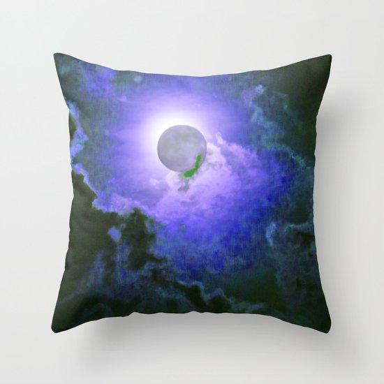 Summer Full Moon Throw Pillow