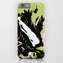 Adelboden Engstligenalp, Switzerland (linocut) iPhone Case