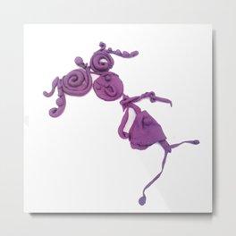 Purple Human Girl Metal Print