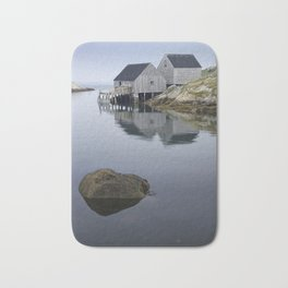 Early Morning at Peggy's Cove Harbor Bath Mat