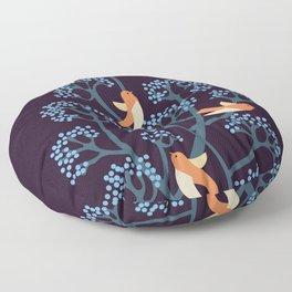 Birds Are singing Floor Pillow