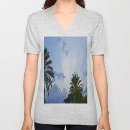 Palms on Clouds  Unisex V-Neck