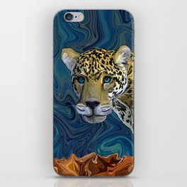Leopard with the Sky in His Eyes iPhone Skin