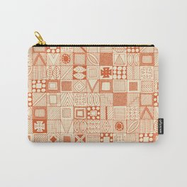 wolf geo orange ivory Carry-All Pouch