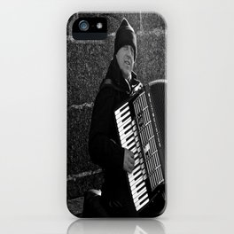 Accordion Busking on Howth Bay iPhone Case