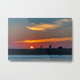 Sunset at the Wedge Metal Print