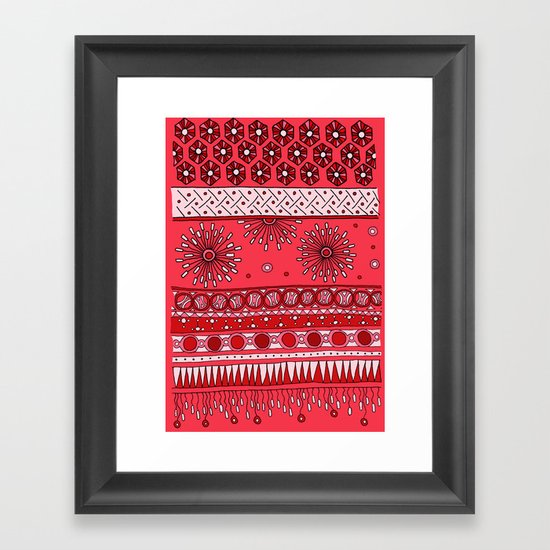 Yzor pattern 007-3 pink Framed Art Print