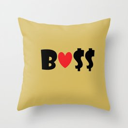 Boss (gold) Throw Pillow