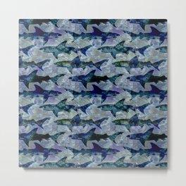 Deep Water Sharks Metal Print
