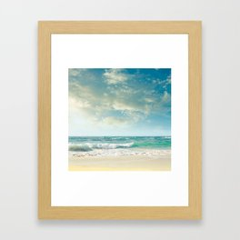 beach love tropical island paradise Framed Art Print
